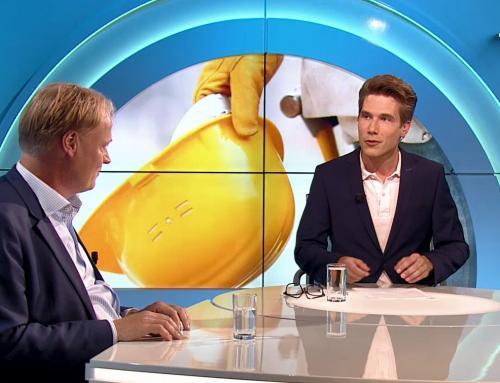 """Lucas Haafkes aan tafel bij RTV Oost: """"De bouw is een mooi exportartikel van Twente richting de rest van Nederland"""""""