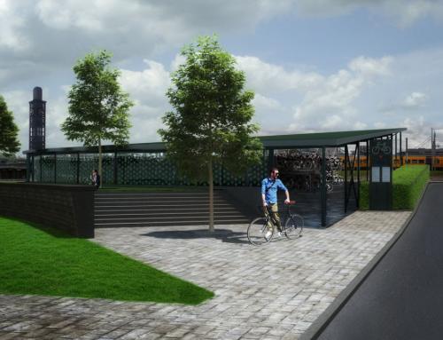 Nieuwbouw fietsenstalling CS, Enschede