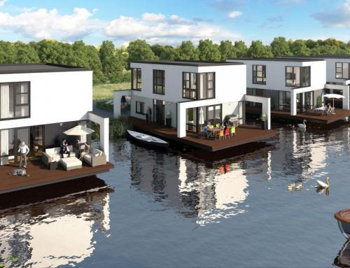 Bouwput eerste 6 waterwoningen Aquarius Deventer ligt klaar