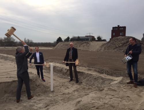 Start bouw tennishal IJburg