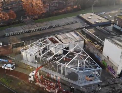 Timelapse nieuwbouw DEC Noord in Hengelo