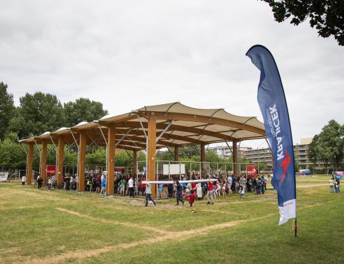 Nieuwbouw overkapping Krajicek Playground, Den Haag