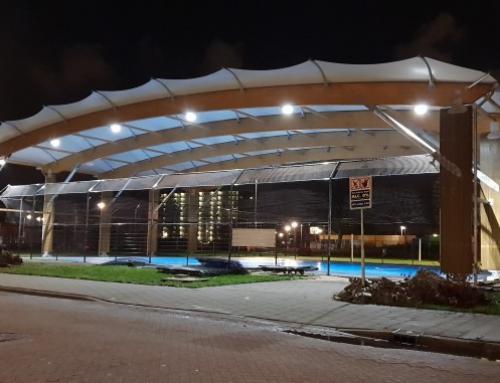 Nieuwbouw overkapping Krajicek Playground, Rotterdam
