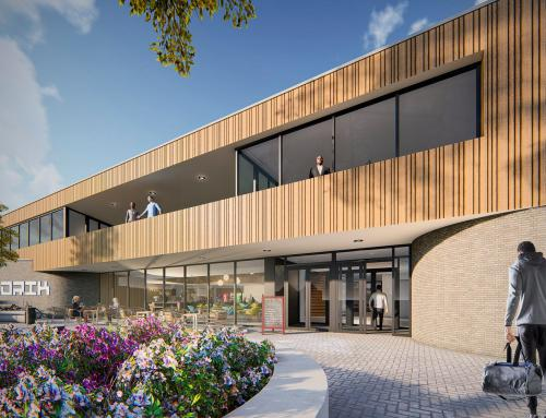 Haafkes bouwer van sport- en onderwijscomplex 't Wooldrik in Borne